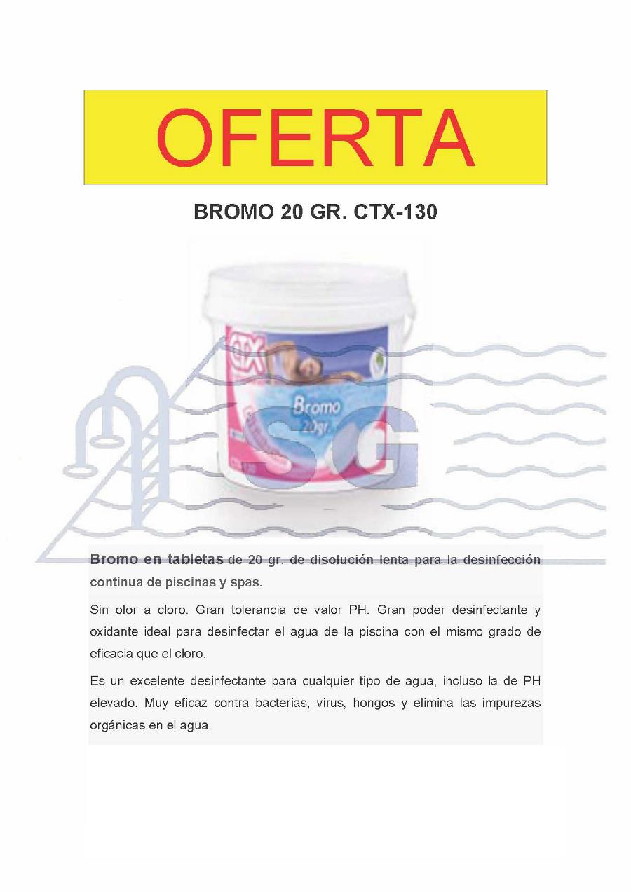 Productos qu micos bromo for Pastillas de bromo para piscinas