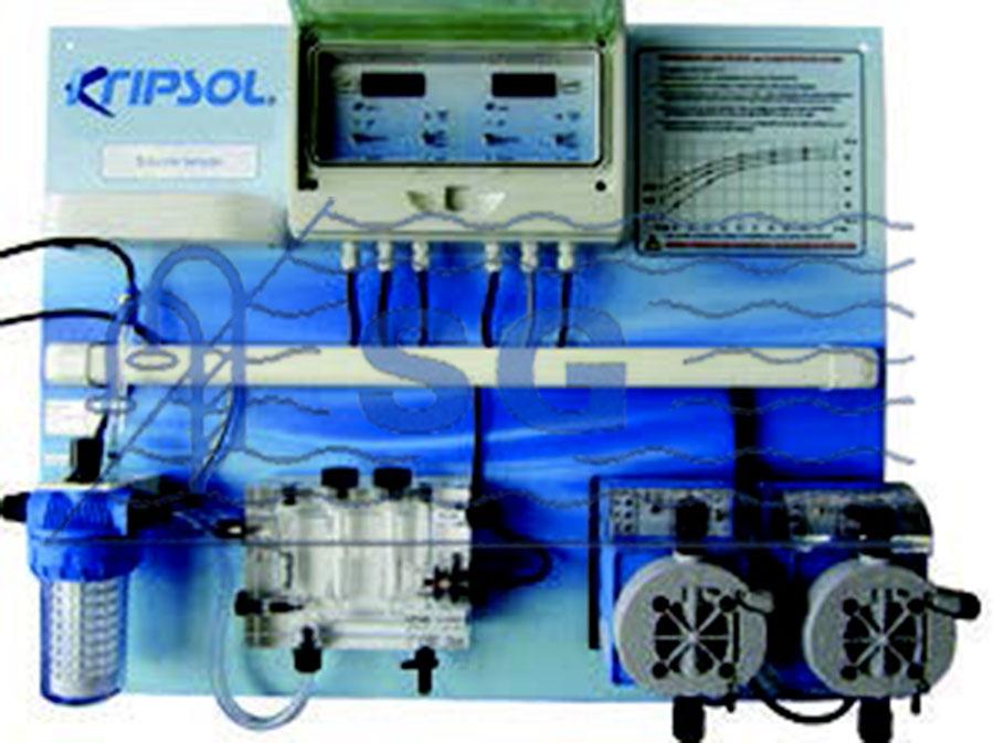 Bombas dosificadoras y paneles de control panel ph cloro for Bomba dosificadora de ph para piscinas