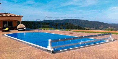 Mantas cubre piscinas y enrolladores enrolladores m viles para cobertores flotantes - Cubre piscinas precios ...