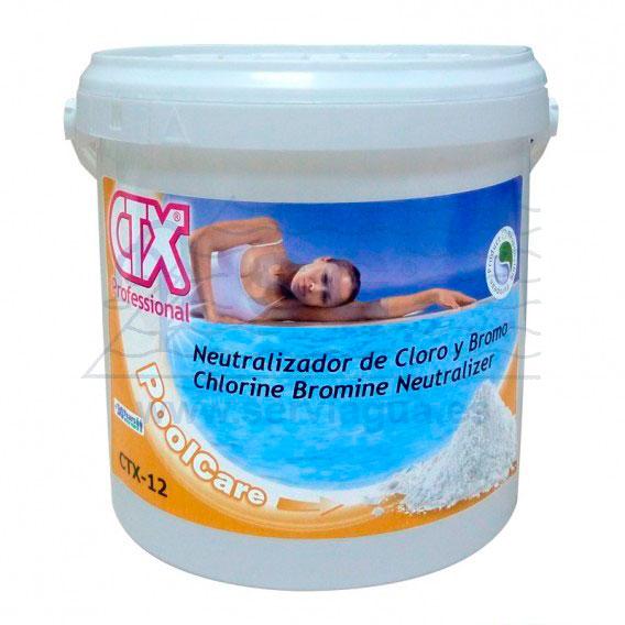 Productos qu micos ctx 12 neutralizador de cloro y bromo for Pastillas de bromo para piscinas