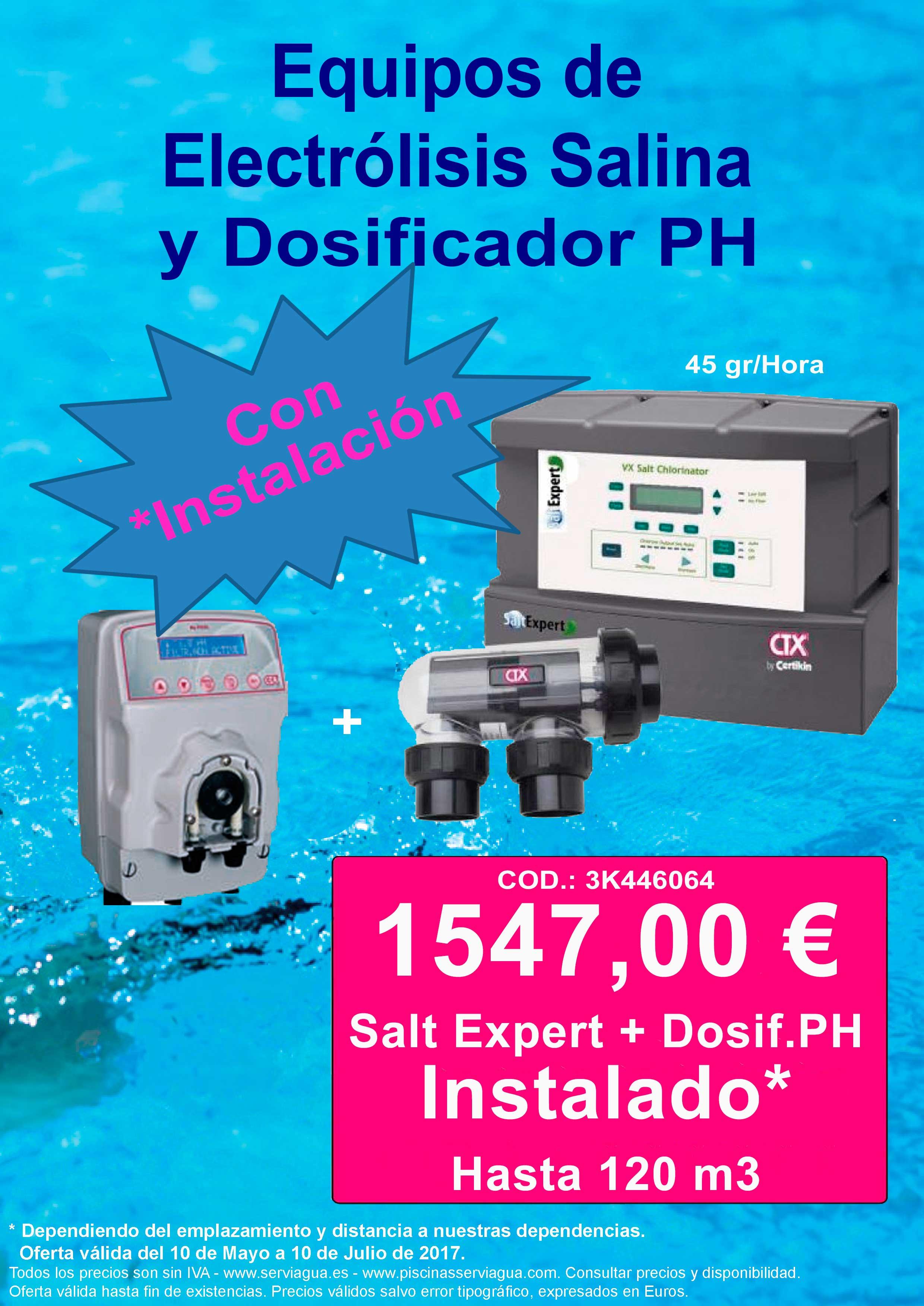Promoci n equipos de electr lisis salina dosificador ph for Instalacion de piscinas pdf