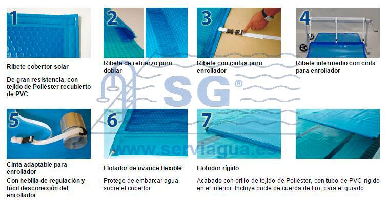 Mantas cubre piscinas y enrolladores accesorios opcionales para cobertores solares - Cubre piscinas precios ...