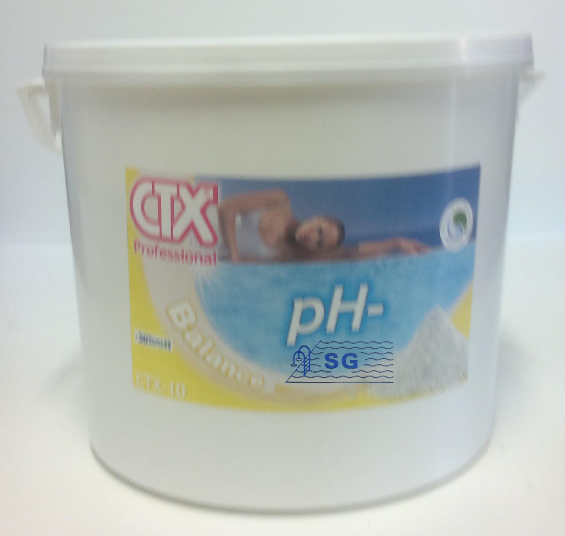 Productos qu micos ph menos granulado gama sg envase 16 kg for Bajar ph piscina
